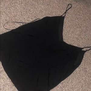Zara knit black tank top